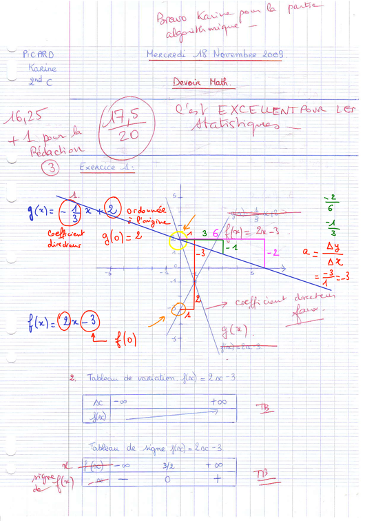 Maths en seconde